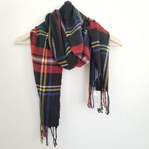 Lands' End Cashtouch Plaid Scarf NWT